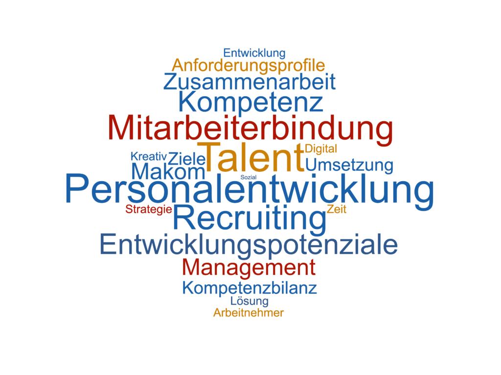 Talent Management Kreativ Ziele Zeit Strategie Digital Lösung Sozial Arbeitnehmer Entwicklung Recruiting Personalentwicklung Mitarbeiterbindung Makom Entwicklungspotenziale Anforderungsprofile Umsetzung Kompetenz Kompetenzbilanz Zusammenarbeit